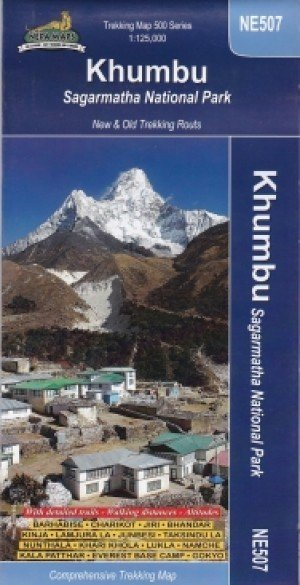 Trekking Map Khumbu Sagarmatha National Park NE507