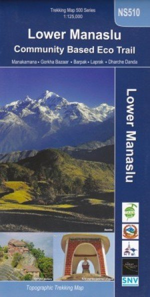 Trekking Map Lower Manaslu Community Based Eco Trail NS510