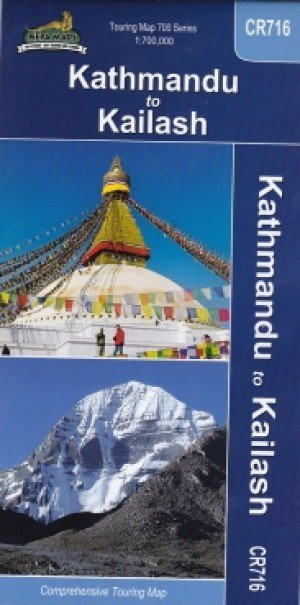 Touring Map Kathmandu To Kailash CR716