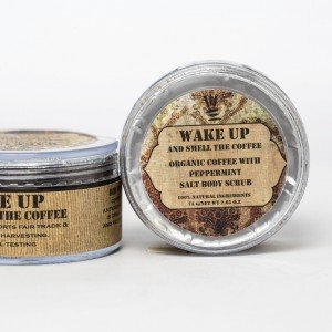 Organic Coffee With Peppermint Salt Body Scrub