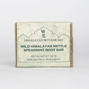 Himalayan Botanicals Wild Himalayan Nettle Spearmint Body Soap (100 gms.)